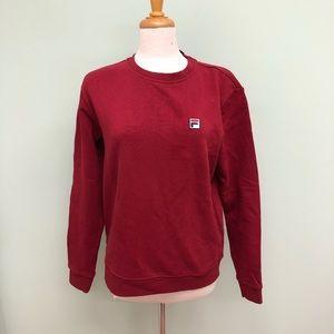 Fila   Women's Crew Neck Sweatshirt   Red
